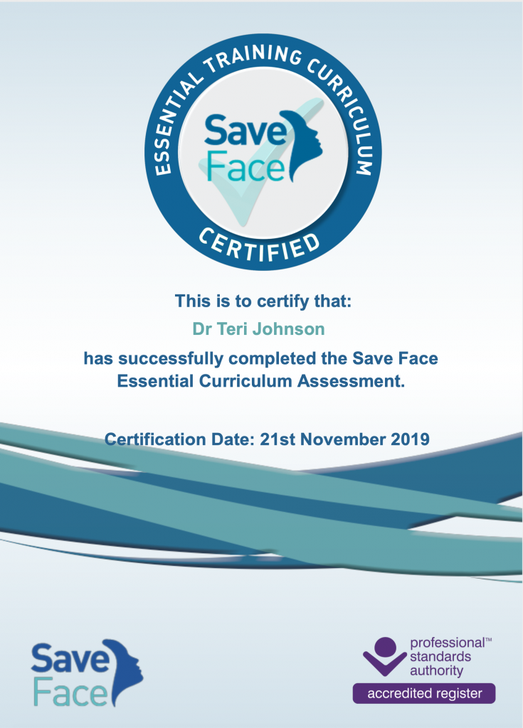 Save Face certificate assessment